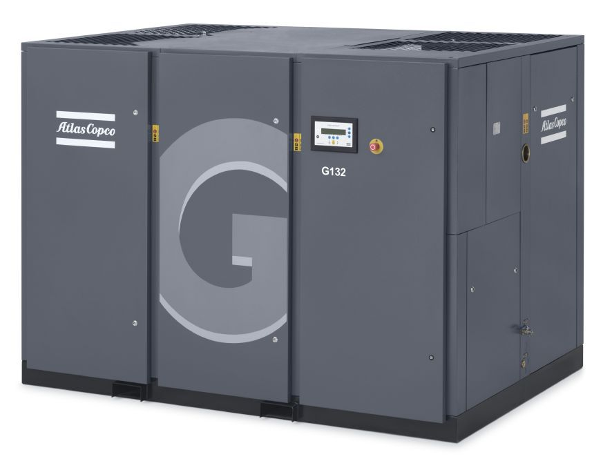 G 132 Oil-injected rotary screw compressor Aircooled