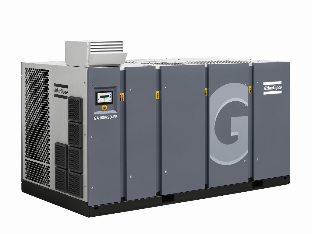GA 160 oil injected screw air compressor